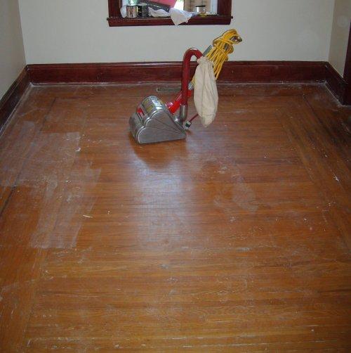 Before - Hardwood Floors in Diningroom