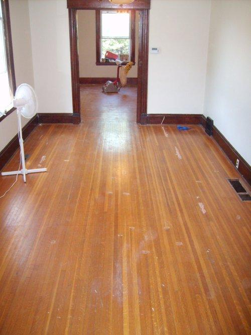 Before - Hardwood Floors in Livingroom