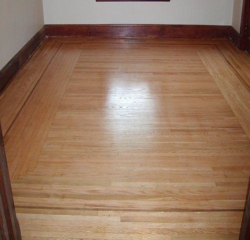 After - The Hardwood Floors in the Diningroom